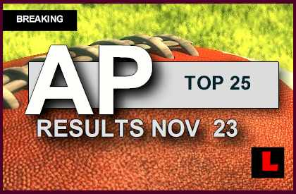 AP Top 25 College Football Rankings November 23, 2014 11/23/14: Week 14 Gets standings