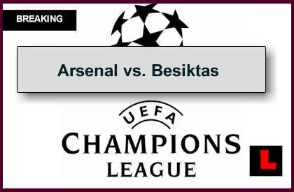 Arsenal vs. Besiktas 2014 Score Prompts UEFA Champions League Results