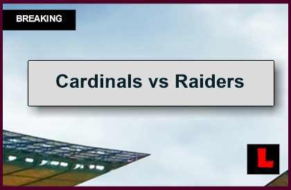 Cardinals vs Raiders 2014 Score: Oakland Struggles in 1st Half