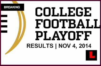 College Football Playoff Rankings 2014 November 4 Ignites Cfp Countdown