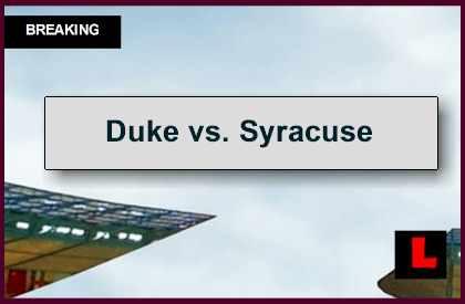 Duke vs. Syracuse 2014 Score Delivers AP Top 25 College ...