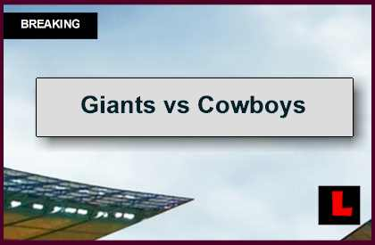 Giants vs Cowboys 2014 Score Gets Tied up Before Football Halftime