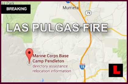 Las Pulgas Fire Camp Pendleton: Forces Battle Talega Fire, San Mateo Fire