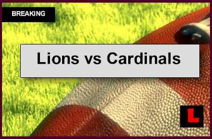 Lions vs Cardinals 2014 Score: Detroit Struggles Before Halftime