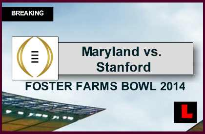 bowl game today stanford football score live