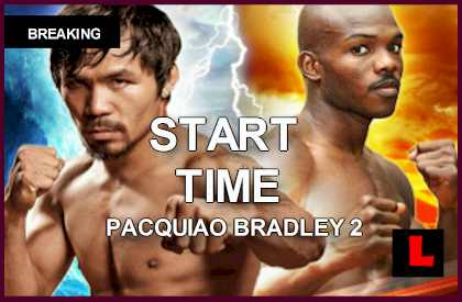 Pacquiao Fight Time 2014: What Time Does the Pacquiao vs. Bradley Fight Start Tonight april 12, 2014