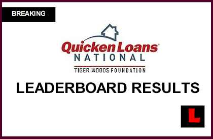 Quicken Loans National Leaderboard 2014 Prompts Tiger Woods Live Score Results