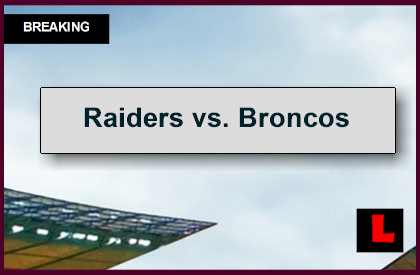 Raiders vs. Broncos 2014 Score Updates NFL Playoff Picture