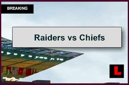 Raiders vs Chiefs 2014 Score Delivers Football Showdown