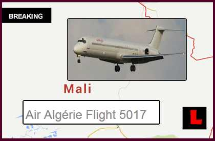 AH5017 Air Algerie Plane Missing, Lost After Gao, Mali Sandstorml