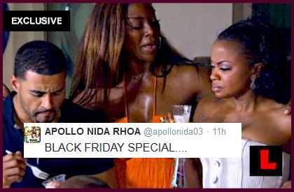 Black Friday Sales 2014: Apollo Nida Battles Kenya Moore - EXCLUSIVE