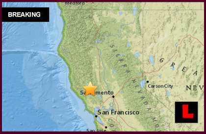 California Earthquake Today 2015 Strikes NW of Sacramento