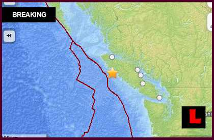 Canada Earthquake 2014 Today: 6.7 Quake Strikes West of Vancouver