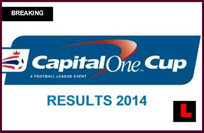 capital one cup results today