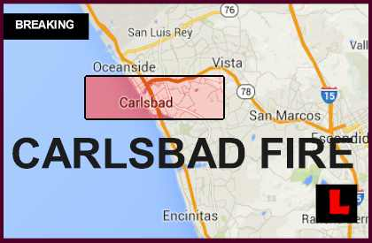 Carlsbad Fire Map: Poinsettia Fire Expands San Diego, CA