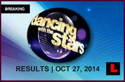Dancing with the Stars Results 2014 Today Reveal DWTS Elimination 10/27/14 october 27, 2014