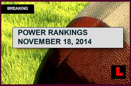ESPN Power Rankings NFL Football 2014 Week 12 Results Revealed Today 11/18