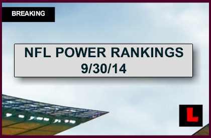 ESPN Power Rankings NFL Football 2014 Week 5 Results Revealed Today 9/30