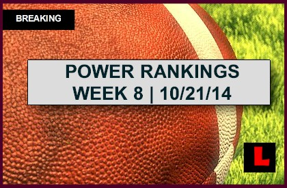 ESPN Power Rankings NFL Football 2014 Week 8 Results Revealed Today 10/21