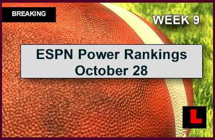 ESPN Power Rankings NFL Football 2014 Week 9 Results Revealed Today 10/28