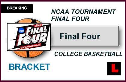Final Four Bracket Schedule 2015 Set NCAA Men's Basketball Tournament