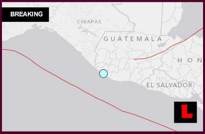 Guatemala Earthquake Today 2014: Terremoto Strikes Champerico