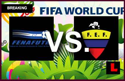 Honduras vs. Ecuador 2014 Score Prompts Critical En Vivo Copa Mundial Game live results soccer futbol