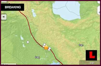 Iran Earthquake Today 2014 Strikes Dehloran