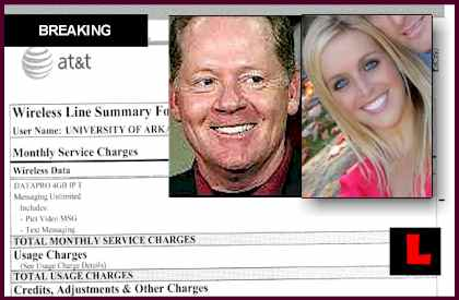 Jessica Dorrell Arkansas Phone Records Indicate Text Photos with Bobby Petrino  wreck wife