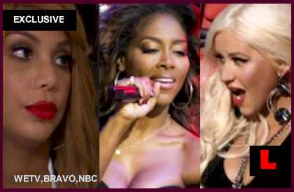 Kenya Moore, Tamar Braxton Feud Adds Christina Aguilera Too - EXCLUSIVE