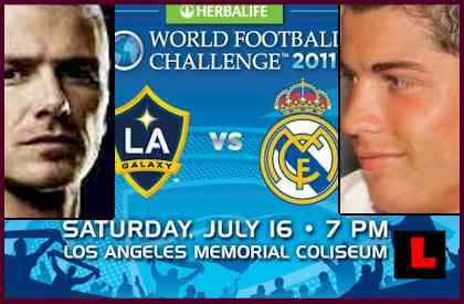 LA Galaxy Real Madrid 2011: Beckham Battles Ronaldo