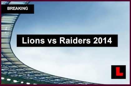 Lions vs Raiders 2014 Score Delivers Football Preseason Game