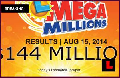 Mega Millions August 15 Winning Numbers Results Last Night 2014 Released