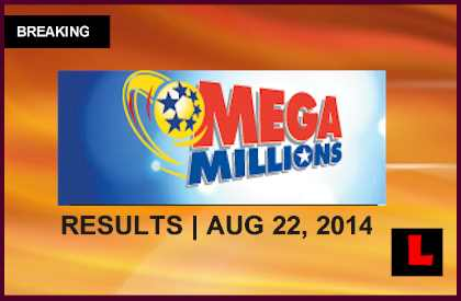 Mega Millions August 22, 2014 8/22/14 Winning Numbers Results Tonight Released 2014