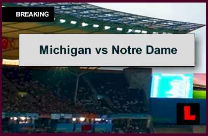 top 25 college football schedule notre dame game today score