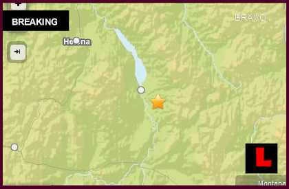 Montana Earthquake Today 2014 Strikes South of Townsend