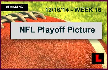NFL Playoff Picture Update Reveal Football Week 16 Standings 2014