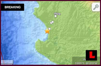 Peru Earthquake Today 2014: Terremoto Strikes West of Ecuador