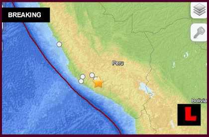 Peru Earthquake Today 2014: Terremoto Strikes East of Lima