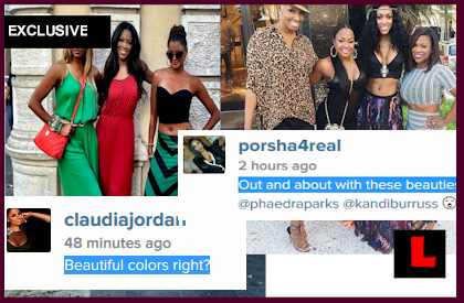 Phaedra Parks, Porsha Stewart Throw Shade at Claudia Jordan - EXCLUSIVE