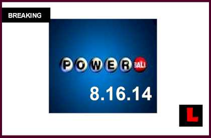 Powerball Winning Numbers August 16, 2014 8/16/14 Results Tonight Released