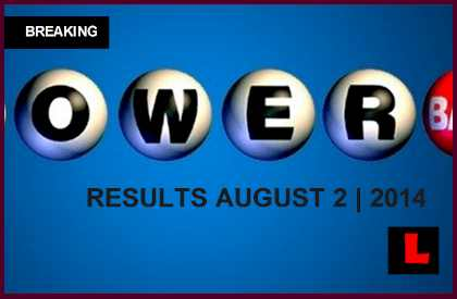 Powerball Winning Numbers August 2 Results Tonight Get Released 2014