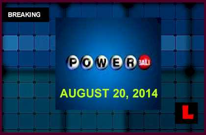 Powerball Winning Numbers August 20 Results Tonight Released 2014