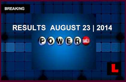 Powerball Winning Numbers August 23, 2014 8/23/14 Results Tonight Get Released 2014