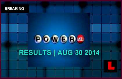 Powerball Winning Numbers August 30, 2014 8/30/14 Results Tonight Get Revealed 2014