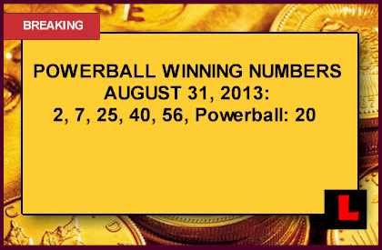 Powerball Winning Numbers Tonight August 31 Prompt Big Draw Results