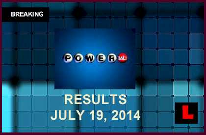 Powerball Winning Numbers July 19 Results Tonight Get Released 2014