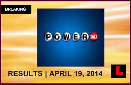 Powerball Winning Numbers April 19, 2014 4/19/14 Results Tonight Released, at $128M