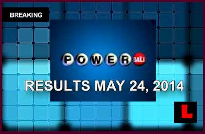 Powerball winning numbers number results tonight may 24 2014 5 24 14