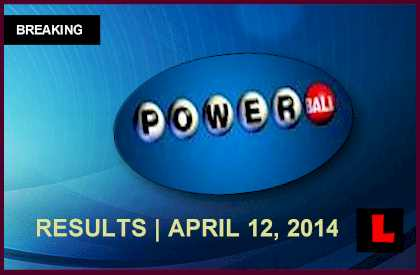 Powerball Winning Numbers April 12: Tonight's Results 2014 Released